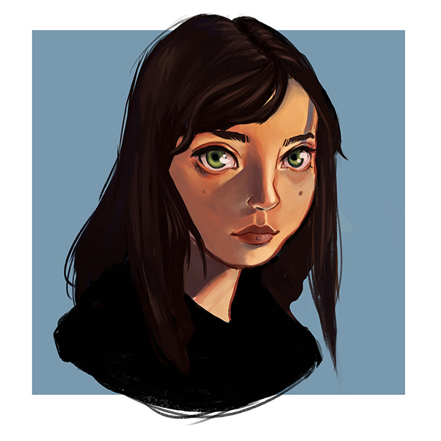 Felicia Kiessling - zelfportret